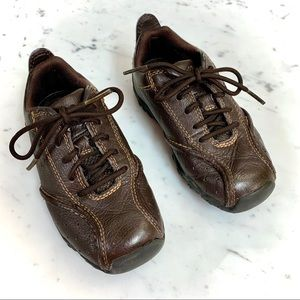 TIMBERLAND Brown Boy laced-Up Leather Shoes -Sz 9